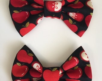 Red Apple Hair Bow