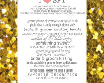 I SPY Wedding Custom Photo Game Printable