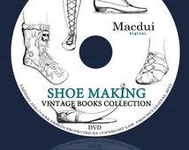 Shoe Making Vintage Books Collection 55 PDF E-Books on 1 DVD, shoe factory, shoe sizing, shoe fitting, book of feet, shoe encyclopedia