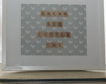 Custom scrabble frame baby gift