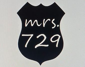 Mrs. Police Badge