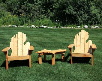 Michigan Adirondack Chair LOCAL PICK UP Only