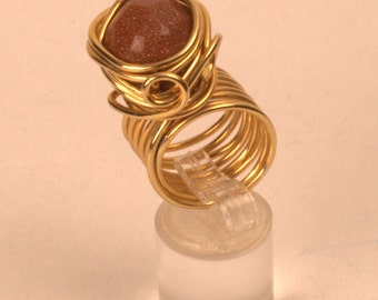 Gold Statement Ring. Wired.