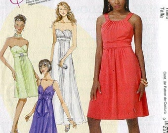 FREE US SHIP McCall's 6029 Create It!  Sweetheart Neckline Strapless Dress Evening Length 2010 Prom Formal Sewing Pattern