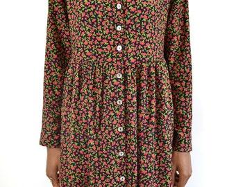 Vintage Cherry Allover Print Midi Dress