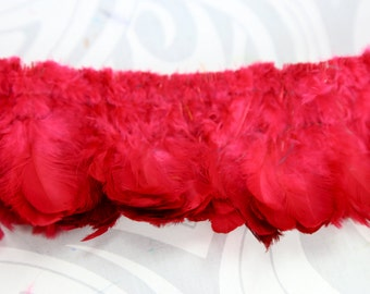 """Red strung plumage feathers 2"""" - 3"""""""