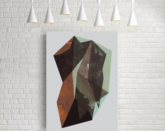 Abstract print, modern wall art, geometric print, scandinavian art, rock poster, rock, abstract art, modern art, print, rock print, rock art