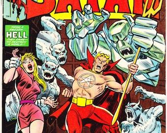 Marvel Spotlight 14, Son of Satan Horror comic, Satanic, Devil, Halloween, Scary book, Creepy art, Beelzebub. 1974 Marvel Comics in VF+(8.5)