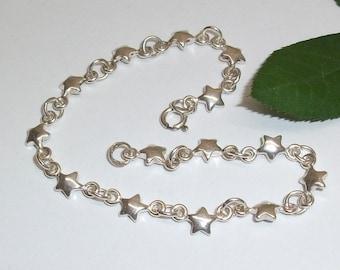 Asterisk bracelet bracelet with asterisk 925 Silver solid SA134
