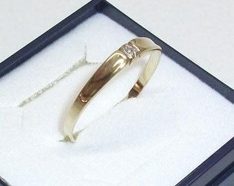 Plain gold ring 585 Lady ring ring 19.5 GR128