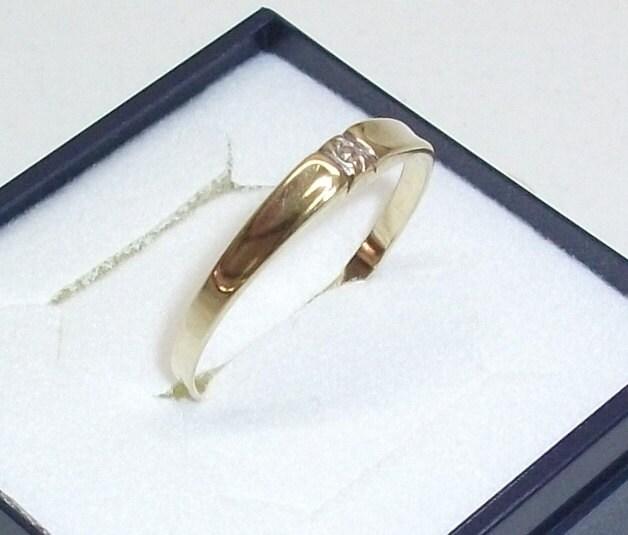Schlichter goldring  Schlichter Goldring 585 Damenring Ring 195 GR128