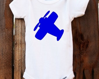 Airplane Onesie Baby Customizable Colors Vinyl