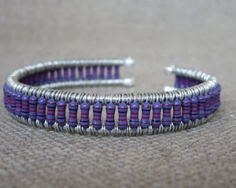 Purple Resistor Cuff Bracelet