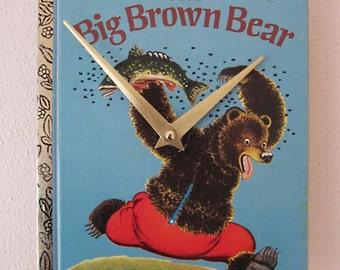 Children's Golden Book wall clock - The Big Brown Bear