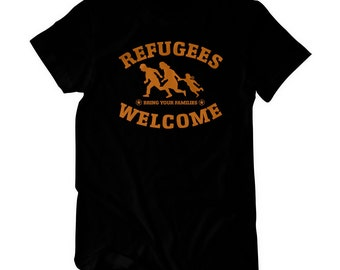 Refugees welcome - T-Shirt refugees asylum statement