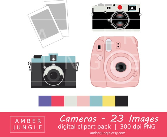Camera Clipart Instant Download Camera Clip Art Photography