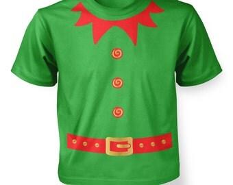 Elf Costume (Red Detail) kids t-shirt