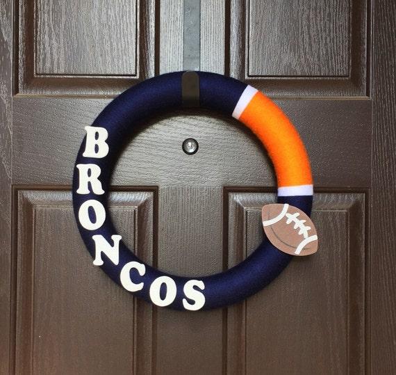 Broncos Yarn Wreath Broncos Wreath Denver Broncos Wreath