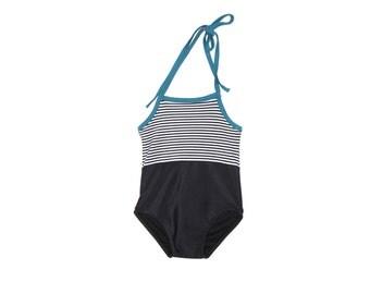 Black & White Stripe Baby Swimwear   Black, White, and Turquoise Infant, Baby, and Toddler Swimwear