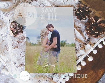 Printable Save The Date, Save The Date, Wedding, Save Our Date, CUSTOMIZED, Jenny & Jack Collection