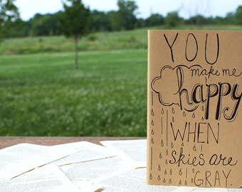 You Make Me Happy Hand-lettered Moleskine Journal