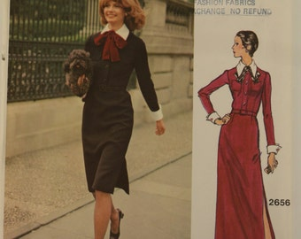 Vogue Couturier Design 2656 Valentino Misses' Dress Sewing Pattern cut. Size 10