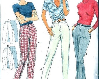 Burda sewing pattern - tapered leg pants - Size 8-10-12-14-16-18