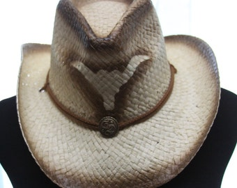 Cowboy hat with chin strap
