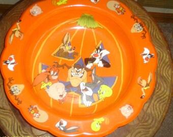 Vintage 1996 Warner Brothers Halloween Bowl