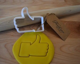 Facebook Like Cookie Cutter - Thumbs Up Cookie Cutter - 3D Printed Cookie Cutter