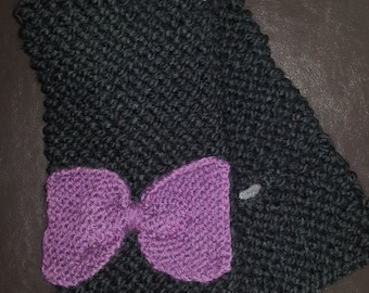 Scarf with loop, scarf, bow, cowl, neck, knit, knit