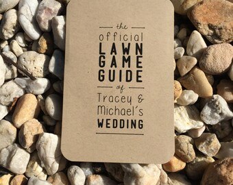 Printable Lawn Game Guide for Weddings/BBQs/Events