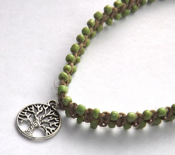 How To Make Hemp Necklaces: Hemp Necklace Choker Necklace Choker Tree Of By