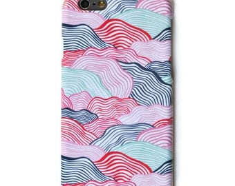 colorful waves iPhone 7 case iPhone 6 Plus Case iPhone 5 Case iPhone 4s Samsung Galaxy S7 Case Samsung Galaxy S5 Case Samsung Galaxy S6 Case
