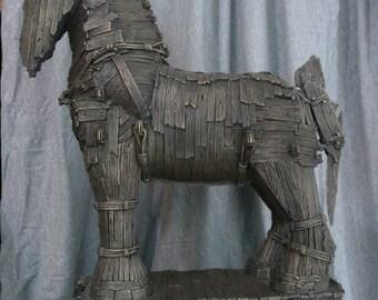 Trojan Horse Bronze Sculpture