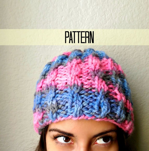 Easy Cable Knit Hat Pattern Easiest Cable Knit Hat by MYandGG