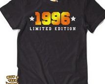 19th Birthday Shirt 1996 Limited Edition T Shirt 19th Birthday Party tee, Limited Edition 19 years old shirt Milestone Mens Ladies Gift Idea