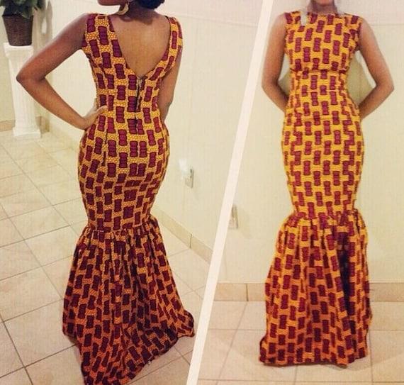 African Print Dress Multicolor