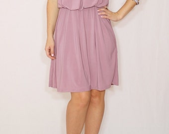 Light purple dress Lilac Bridesmaid dress Short dress Party dress