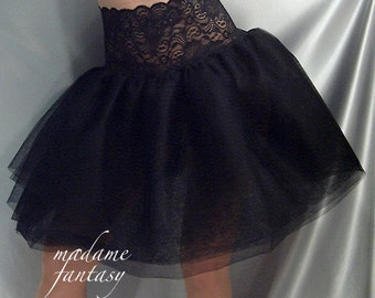 Black lace top tutu skirt Goth