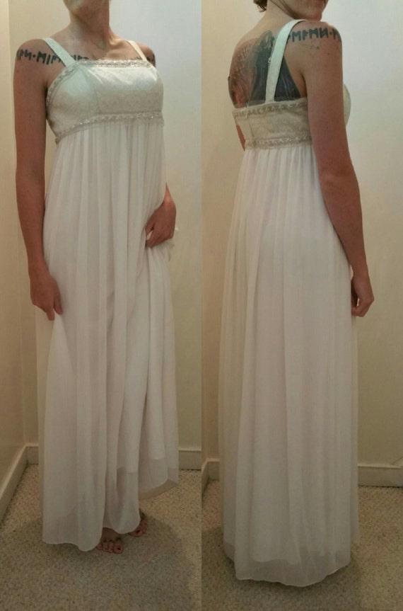 Upcycled Beach Wedding Dress/ Prom Dress By ValkyrieDesignCo
