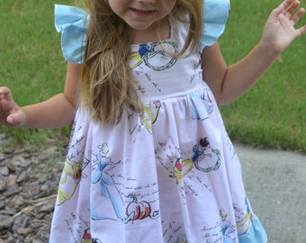 Disney Princess Cinderella Flutter Dress 6-12 mo, 12-18, 18-24, 3T, 4T, 5T,