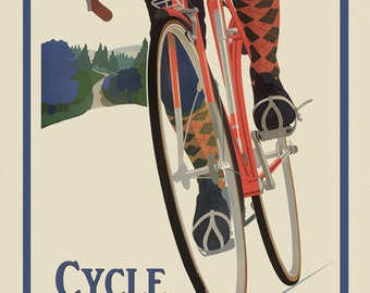 Bike Wisconsin  Bicycle  American Sport Vintage Poster Repro FREE SHIPPING