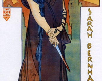 Mucha Medee Medea Sarah Bernhardt Theater Show by Alphonse Mucha Vintage Poster Repro FREE SHIPPING