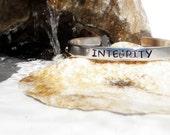 "Handmade Bracelet - Personalizable - "" Integrity "" - Aluminum Jewelry - Empowerment Jewelry"