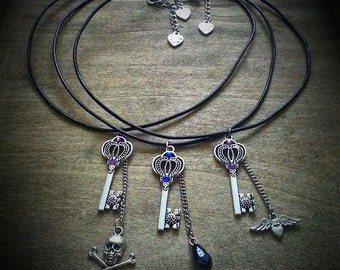 "Necklaces ""Magic Key"" - Fantasy, Gothic, Steampunk, Cosplay, Costume"