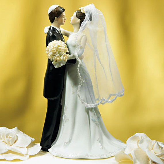 Wedding Gifts For Jewish Couples : Wedding Cake Topper - Jewish Wedding Cake Topper - Romantic Wedding ...