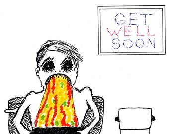 Get well soon - greetings card