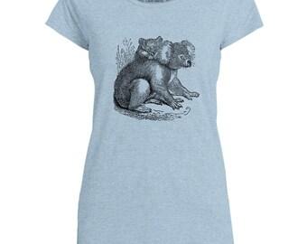 Mintage Cute Koala Womens Capped Sleeve T-Shirt
