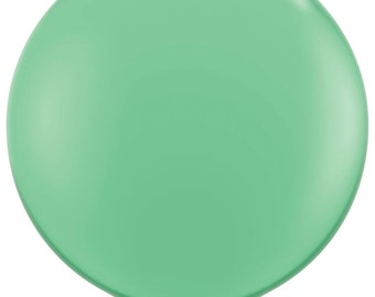 "36"" Jumbo latex balloon in Emerald Green.  Large green balloon.  Green balloon. Jumbo balloon.  36 inch balloon.  Huge green balloon."